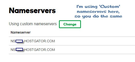 Changing Nameservers With Cuson in GoDaddy