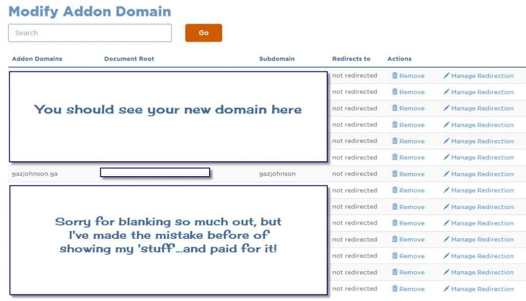 Modify Add On Doamin List