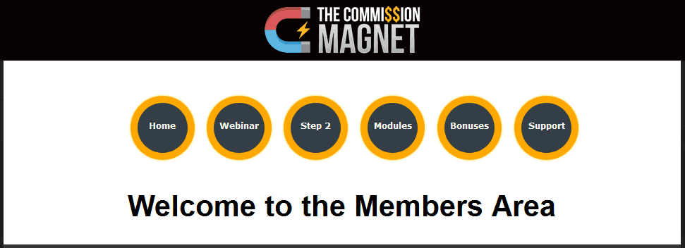 The commission magnet members area
