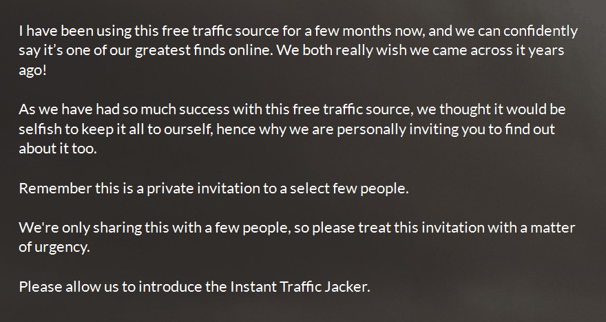 instant traffic jacker claims