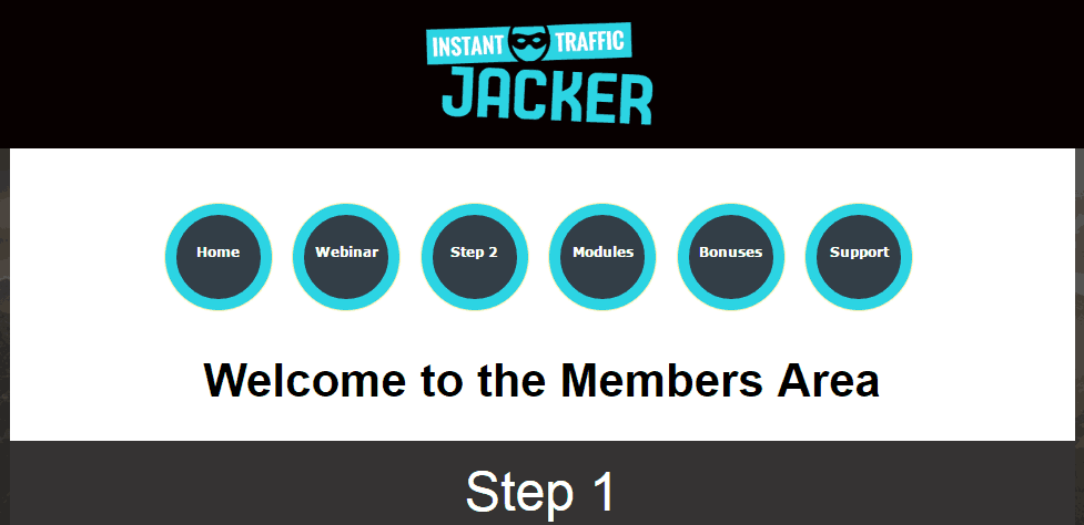 instant traffic jacker members area